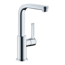 Hansgrohe - Hansgrohe 31161001 Metris S Single Hole Tall - Boltic Handle lock. Includes pop-up assembly. For vessel type sinks. Flow 1.5 GPM