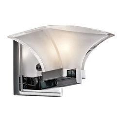 Kichler Lighting - Kichler Lighting 45036CH Tulare Transitional Wall Sconce In Chrome - Kichler Lighting 45036CH Tulare Transitional Wall Sconce In Chrome