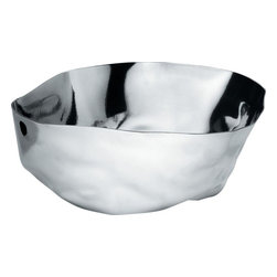 Alessi - Alessi 'Enriqueta' Salad Bowl - Make salad the new showstopper at your table with this stainless steel salad bowl. From Spanish designer Lluís Clotet, this mirror-polished bowl's irregular dimensions are sure to catch all your guests' attention.