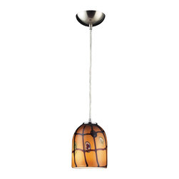 Elk Lighting - Elk Lighting Rapture Modern / Contemporary Pendant Light X-IC1-345 - Individuality is what defines this exquisite line of hand-blown glass. This ancient technique of fine craftsmanship ensures that quality and originality is at the heart of every piece. Each piece is meticulously hand blown with up to three layers of uncompromising beauty and style. This art is performed only by skilled craftsmen who uphold the highest standards to ensure a unique identity throughout each layer. This special technique of layering allows the light to spread evenly across the glass resulting in a warm glow over the entire surface.The glass pendants in this section feature deep rich colors and a heavier hand-crafted look and feel. To achieve this, special production methods are used. First, the initial layers of glass are blown. While the glass is molten, secondary molten glass strips and pieces of contrasting colors, shapes, and sizes are applied in random patterns and melted into the original layers of glass. This process fuses the different layers of glass together causing the piece of it to become thicker and also allows the artist to form the glass into a more naturally flowing shape.