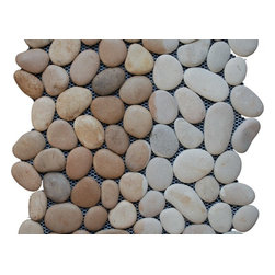 Pebble Stone Mosaic, Maluku Tan - Sold by the box