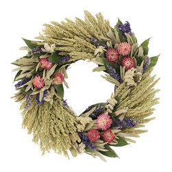 Strawflower Fields Wreath Garden Shed Wreath Add