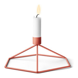 MENU - POV Table Candleholder, Terracotta - POV Candle Holder is a light, smart and playful product that can be used as a single piece or in a group. Beautiful on its own and stunning as graphical patterns on the wall or on the table.