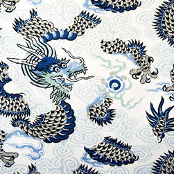 Oriental dragon fabric Asian Chinese Japanese - A dragon fabric with an Asian Oriental look. A Chinese dragon fabric or Japanese dragon fabric, for those who love the mythical!