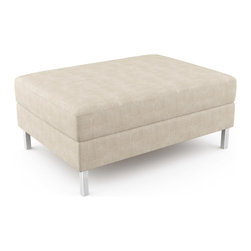 "Viesso - Mota Ottoman - 38"" x 27"" (Eco-Friendly) - This ottoman goes with the Mota model, or could be used on its own. It has a simple and funtional design."