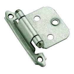 Amerock - Amerock Weathered Nickel Face Mount Self-closing Hinges (Pack of 10) - Update your kitchen with quality Amerock cabinet hinges,featuring a weathered nickel finish. These hinges come in a pack of ten and include installation instructions and installation screws.