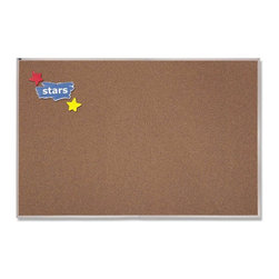 Quartet - Quartet Premium Colored Cork Bulletin Board with Aluminum Frame - 120 x 48 in. M - Shop for Bulletin Boards from Hayneedle.com! About QuartetQuartet knows that you just have to write it down or you'll forget. They've been in the whiteboard bulletin board and chalkboard business since 1945 and have perfected the art of the perfect surface. Today they boast a full line of visual communication products used at home in the office in hospitals and in schools across the country. When you're looking for a product to help you communicate you're looking for Quartet.