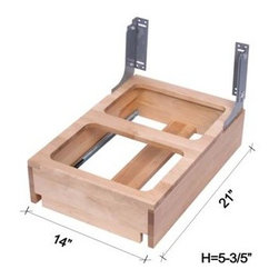 """Double Pullout Waste Basket For A 18"""" Wide Base Cabinet - Double waste basket pull out accessory to be installed in a 18"""" wide base cabinet (18"""" base cabinet must be purchased separately). Two waste baskets are included and the pull out comes fully assembled with cabinet mounting instructions. The tracks on the pull out are soft-close.Assembly Instructions"""