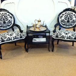 French Slipper Chairs - Lansky Studio
