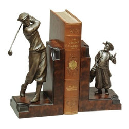 EuroLux Home - Golfer Caddy Golf Traditional Cast Resin - Product Details