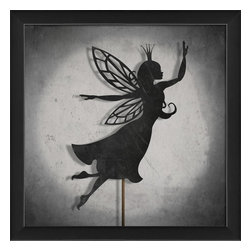The Artwork Factory - Shadow Puppet  Fairy Framed Artwork - Ready-to-Hang, 100% Made in the USA, museum quality framed artwork