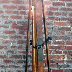 Antique Ski Coat Rack by Sipes Tahoe - Hang your puffer on this coat rack made of antique skis.