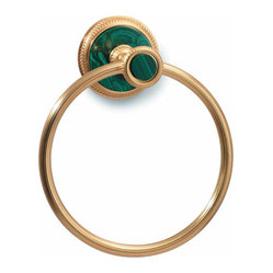 Malachite Towel Ring