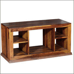 Dallas Ranch Indian Rosewood Open Back TV Stand Media Console - Keep things comfortable and easy with our smart Dallas Ranch Entertainment Center.