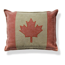 Origin Crafts - Canada flag pillow set/2 - Canada Flag Pillow Set/2 Interior use. Dry clean only. Cotton with poly insert. Dimensions (in):20 x 17.25 By Napa Home & Garden - Napa Home & Garden is a wholesale manufacturer of distinctive home & garden decorative accessories. Estimated Delivery Time 1-2 Weeks. Please be aware that some products are handmade and unique therefore there may be slight variations in each individual product.