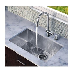 Vigo Industries - Kitchen Sink and 17 in. Faucet Set - Revitalize the look of your kitchen with a VIGO All in One Kitchen Set.