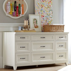 Hampton 9-Drawer Dresser - From tapered feet and a beveled top to a superwide stance, this spacious dresser stores your wardrobe with standout style.