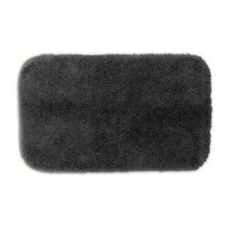 None - Posh Plush Charcoal Washable Bath Rug - Revel in spa-like luxury every time you step into the bath with the Posh Plush collection of bath rugs. The amazingly soft,yet durable,nylon plush is machine washable,and this grey floor piece has a non-skid latex backing for safety.