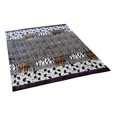 Blancho Bedding - Onitiva - [Amazon Jungle -B] Patchwork Throw Blanket (86.6 by 63 inches) - This animal skin patchwork throw blanket measures 86.6 by 63 inches with 22.5 oz filling. Comfort, warmth and stylish designs.