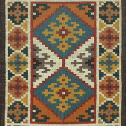 Rugsville Southwester Blue Ivory 13727 Wool & Jute Rug - Rugsville Trellis collection is handcrafted from wool. Trellis rug inspired pattern is a contemporary and sophisticated addition to any room. This hand woven flat weave rug was meticulously crafted with 100% wool in India.