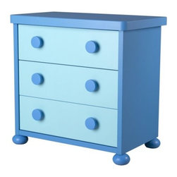 M Kjelstrup/A Östgaard - Mammut 3-drawer Chest, Blue - I love pretty much everything in the kid-friendly Ikea Mammut furniture series. This would look fantastic in a Mario-themed bedroom.