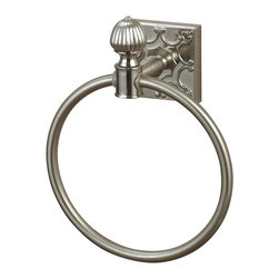 Sterling - Sterling 131-009 Towel Ring In Brushed Steel With Embossed Back Plate - Sterling 131-009 Towel Ring In Brushed Steel With Embossed Back Plate