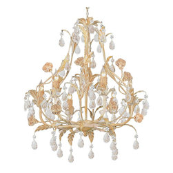 Crystorama - Crystorama Athena Chandelier X-MC-6094 - Athena Collection offers casual yet elegant, whimsical and chic chandeliers and wall sconces.
