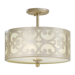 Minka Lavery - Minka Lavery 1498 3 Light Semi-Flush Ceiling Fixture from the Nanti Collection - Three Light Semi-Flush Ceiling Fixture from the Nanti CollectionFeatures: