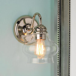 Clear Cloche Glass Sconce -