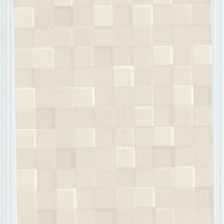 Graham and Brown - Fallon Wallpaper in Cream - It's hip for your walls to be square with this chic geometric paper. Elegantly neutral and designed to create the illusion of three-dimensional texture, it's a subtle but stunning statement.