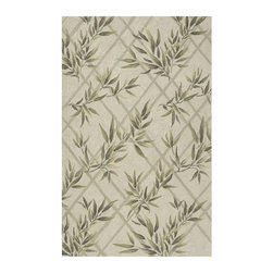 Momeni - Momeni Veranda Bamboo Indoor/Outdoor Area Rug - Ivory Light Brown - VERANVR-04IV - Shop for Rugs and Runners from Hayneedle.com! The Momeni Veranda Bamboo Indoor/Outdoor Rug - Ivory places sophisticated style and unsurpassed comfort securely underfoot. This finely crafted hand-hooked rug features an intricate bamboo-leaf motif in a warm cream tone with muted earthy green accents. The rug is constructed of durable 100% polypropylene and is available in a variety of sizes and shapes to suit any floor space. The rug is resistant to mildew and fading from UV rays and suitable for both indoor and outdoor settings.Sizes offered in this rug:Following are all sizes for this rug. Please note that some may be currently unavailable due to inventory. Also please note that rug sizes may vary by up to 4 inches in dimensions listed.Dimensions:2 x 3 ft. Rectangle3.9 x 5.9 ft. Rectangle5 x 8 ft. Rectangle8 x 10 ft. Rectangle9 ft. RoundCaring for Your Momeni RugVacuum rug weekly or hose down to clean and hang to dry.About MomeniMomeni a family name a mark of quality and an expert source of ideas for making your home come alive with true timeless beauty was established half a century ago when Ali A. (Haji) Momeni started a family business bringing exquisite Persian carpets to the United States. Though styles have come and gone behind them all is the fundamental principle that Momeni rugs are created to touch our senses. For half a century Momeni's award-winning rugs have been recognized time and time again with America's Magnificent Carpet Award for sophisticated style and quality craftsmanship suitable for any setting.