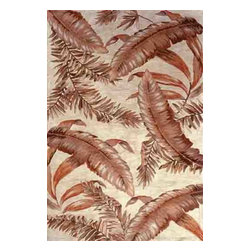 KAS - Sparta Ferns 3124 Ivory Rug by Kas - 3 ft 6 in x 5 ft 6 in - The use of floral patterns and color stylings is simply amazing in the Sparta Collection from Kas. Hand tufted of high-density wool, each rug potrays an unqiue floral arrangement that is both elegant and fashion forward. The use of different colors is simply wonderful with each peice more eye-popping than the next. If it's a floral themed rug you are in the market for, look no further than the Sparta Collection from Kas.