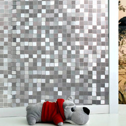 No-Glue Mosaic Frosted Window Film - Instruction: