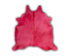 "Kaymanta - Pink | Dyed Hair on Hide Rug  | 1st Quality of Brazilian Cowhide - Size: 72"" W x 84"" L"