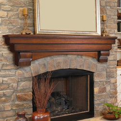 Pearl Mantels Auburn Traditional Fireplace Mantel Shelf - If your fireplace needs an update, consider adding a new mantel shelf for a fresh look.