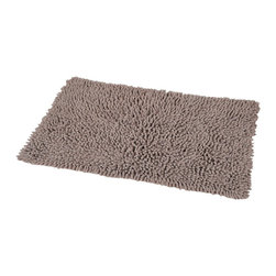 Shaggy Loop Bath Rug Brown Glaze - This shaggy loop bath rug is 100% cotton. Thick fabric and ultra-soft touch, it will add a luxurious and contemporary style to your bathroom. Lush, deep, and inviting, you can luxuriously sink your toes into it! Machine wash cold and no dryer. Manufacturer recommends using a nonskid pad beneath the rug (not included). Indoor use only. Width 17-Inch and length 29.5-Inch. Color brown glaze. This shaggy rug delivers a sparkly, lustrous look that instantly updates your bathroom decor. Imported.