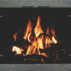 Stoll Forged Iron Fireplace Glass Door - Custom Product -