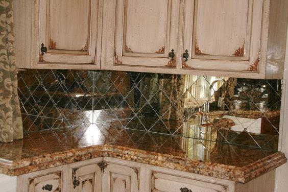 Antique Mirror Backsplash