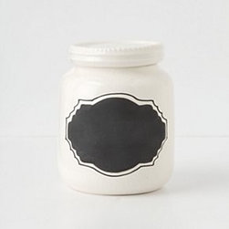 "Anthropologie - Chalkboard Spice Jar - StonewareHand wash8 oz3.75""H, 3"" diameterImported"