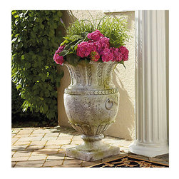 Apian Vessel Outdoor Planter - A pair of these outdoor planters would make a bold statement on your front porch.