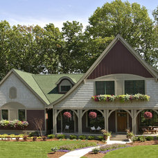 Traditional Exterior by Ron Brenner Architects