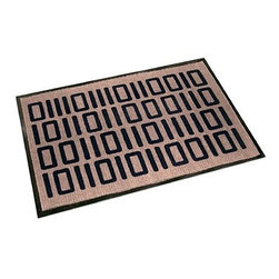 """Welcome In Binary Floor/Door Mat - Most people into design and fashion are not huge techy geeks. I however, live in that world so present to you all the ultimate in having your cake and eating it too. This doormat looks great, it has a nice geometric  pattern for the design-minded of the home. However, for us techy geeks, it's full of 0s and 1s that spell out """"welcome"""" in binary. Bet you never guessed that!"""