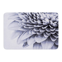 "KESS InHouse - Iris Lehnhardt ""A Flower"" Grey Petals Memory Foam Bath Mat (24"" x 36"") - These super absorbent bath mats will add comfort and style to your bathroom. These memory foam mats will feel like you are in a spa every time you step out of the shower. Available in two sizes, 17"" x 24"" and 24"" x 36"", with a .5"" thickness and non skid backing, these will fit every style of bathroom. Add comfort like never before in front of your vanity, sink, bathtub, shower or even laundry room. Machine wash cold, gentle cycle, tumble dry low or lay flat to dry. Printed on single side."