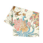 Sin in Linen - Geisha Garden Tea Towel - This beautiful tattoo print features images of coi fish, peacocks and geishas in a utopian garden of cherry blossoms.