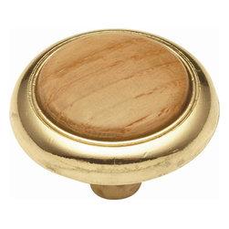 Hickory Hardware - Gladstone Knob (Set of 10) (Oak) - Finish: Oak.