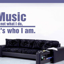 Music Is Vinyl Wall Decal AM008MusicisV, Purple, 18 in. - Vinyl Wall Quotes are an awesome way to bring a room to life!