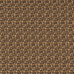 Brown Orange Green Geometric Rectangles Durable Upholstery Fabric By The Yard - P4937 is great for residential, commercial, automotive and hospitality applications. This contract grade fabric is Teflon coated for superior stain resistance, and is very easy to clean and maintain. This material is perfect for restaurants, offices, residential uses, and automotive upholstery.