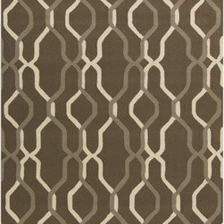 Surya - Surya Rain RAI-1182 (Brown, Ivory) 8' x 10' Rug - Rain or shine, these rugs look great outdoors! These hand hooked all weather rugs are manufactured to withstand the rigors of outdoor use. You don't need to worry about ruining your rug by spilling a drink or dropping food, just hose off and it's clean! The colors and designs we specially created to add to the outdoor ambiance.