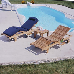 Three Birds - Three Birds Teak Chaise Lounge Multicolor - LR70 - Shop for Chaise Lounges from Hayneedle.com! Relax by the pool in sophistication and style with the extra-comfortable Three Birds Teak Lounger. This durable classic lounger includes a pull-out shelf on each side to hold drinks and a multi-position leg and backrest so you can recline comfortably in a sitting or lounging position. Constructed from 100% grade-A plantation-grown teak this chair is designed for years of outdoors use. It will age to a silvery patina gray with no decrease in quality. If you prefer simply refresh with teak oil or stain. Important NoticeThis item is custom-made to order which means production begins immediately upon receipt of each order. Because of this cancellations must be made via telephone to 1-800-351-5699 within 24 hours of order placement. Emails are not currently acceptable forms of cancellation. Thank you for your consideration in this matter. For centuries teak wood has been recognized for its quality durability and beauty. Teak is a very hard densely grained wood with a high oil content. The unique combination of these characteristics makes teak wood naturally resistant to moisture rot warping shrinking splintering insects and fungus. It is considered the ideal wood for outdoor furniture. Three Birds accepts only Grade-A plantation-grown teak timber harvested from government-managed plantations. All of the teak wood used in our products is kiln-dried prior to production. The teak then receives a smooth hand-applied polished finish. Time-tested mortise-and-tenon joinery with locking wood dowels holds each piece together. Where hardware is necessary it is of the highest quality brass or stainless steel. Prior to delivery each item is individually inspected and shipped knocked-down for efficiency. A hammer rubber mallet and screwdriver are all you need to complete the simple assembly.