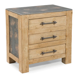 Moe's Home Collection - Moe's Home Urbane 3-Drawer End Table in Natural - Industrial end table for urbane living.